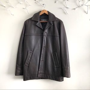 Men's Kenneth Cole Reaction Leather brown jacket